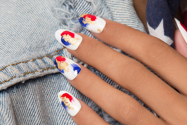4th of july manicure, 4th of july nails
