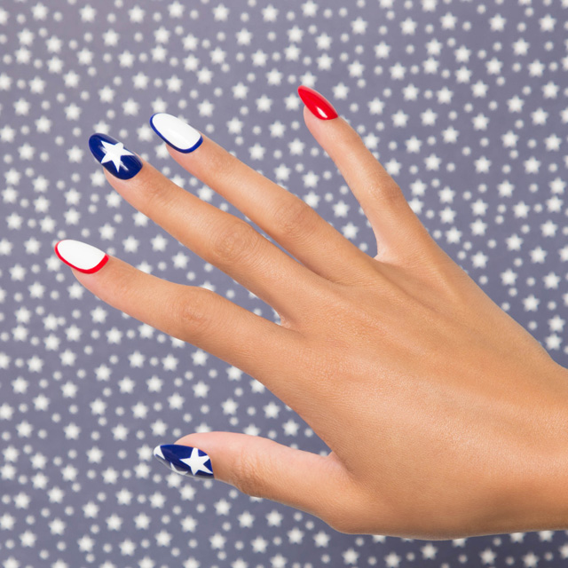 4th of july nails, blue and red nails