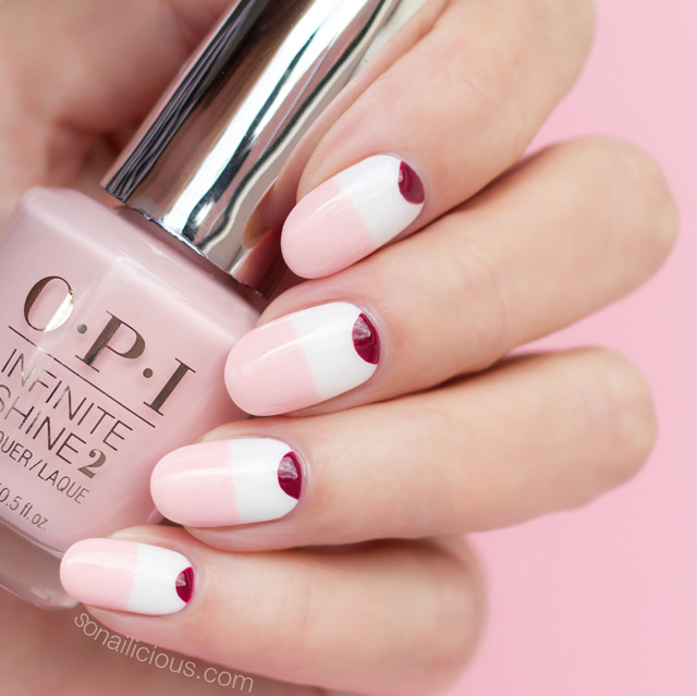 Minimalist nails with OPI Pretty Pink Persevers