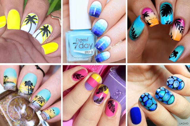 12 best beach nail designs - 12 Best Beach Nail Designs - SoNailicious
