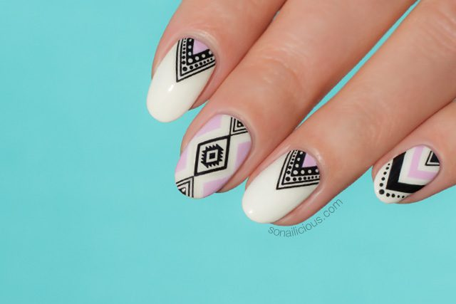 aztec nails how to - Aztec Nails How To - SoNailicious