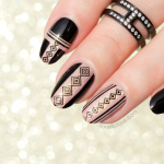 Black and Gold Geo Nails. Plus, How-To