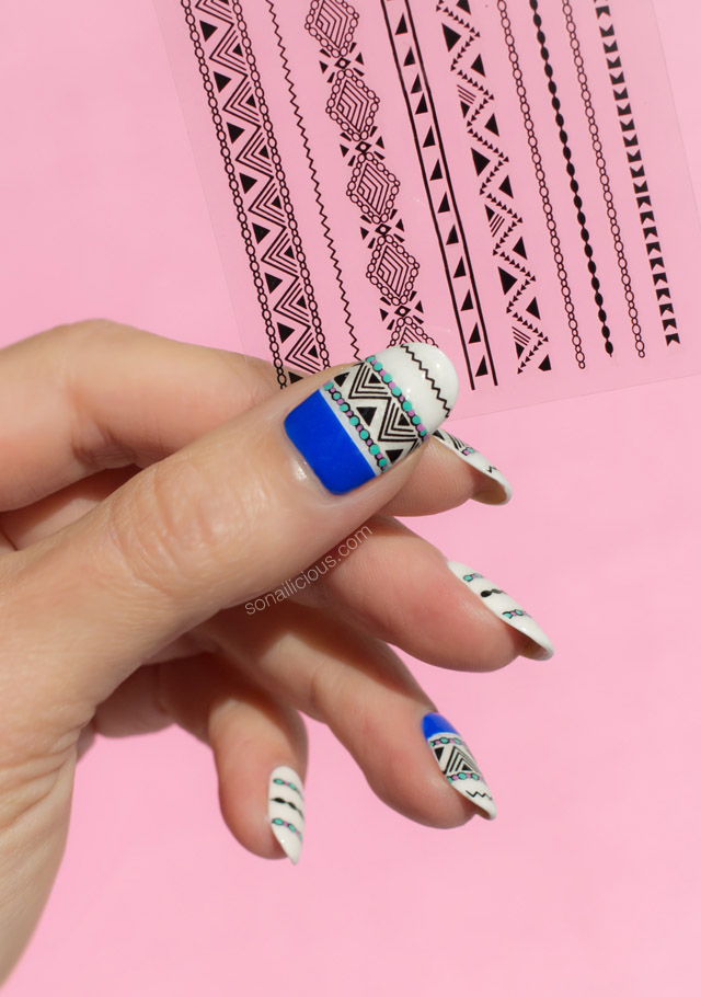 gothic print nail stickers