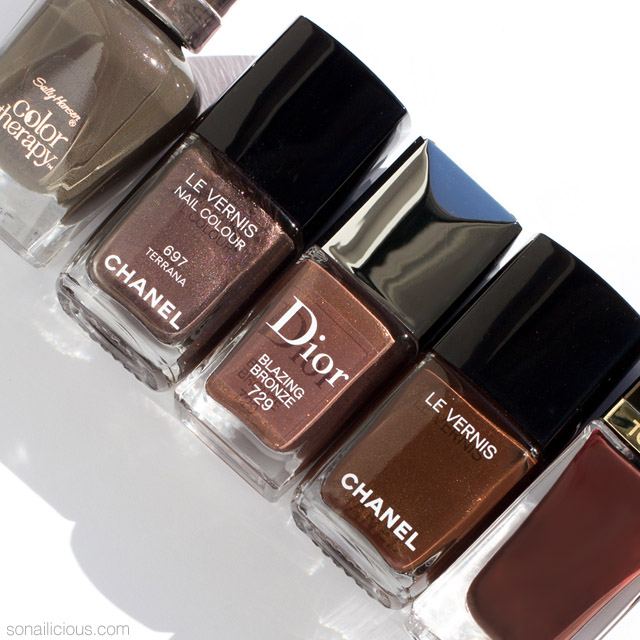 5 Best Brown Nail Polishes Close Up