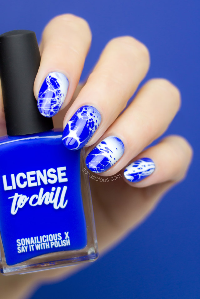 bright blue nails, aussie indie nail polish