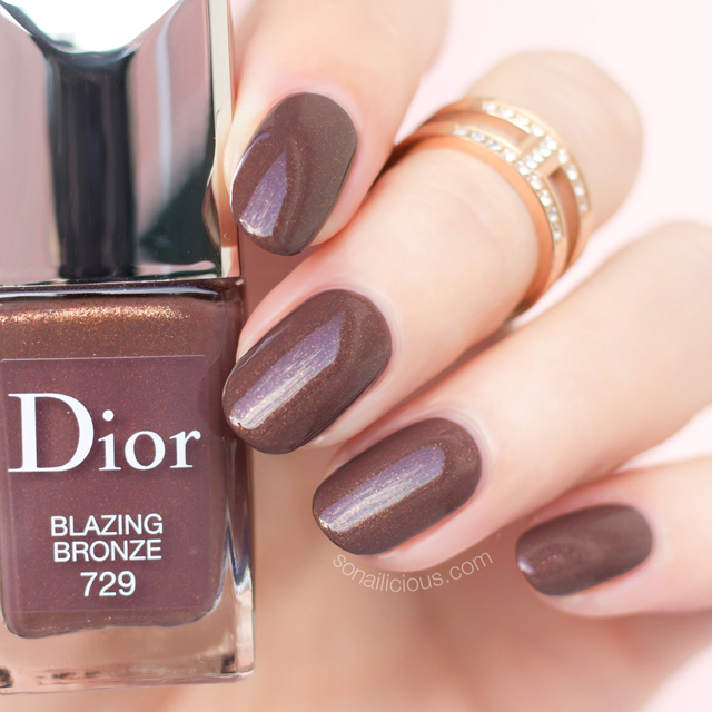 Dior Blazing Bronze 5 Best Brown Nail Polishes