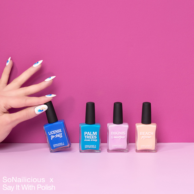 sonailicious x say it with polish limited edition collection