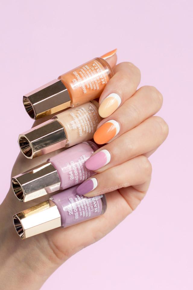 spring nails, mavala nail polish review