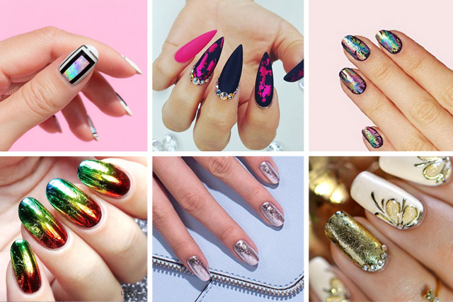 12 brilliant foil nail designs to try this weekend prinsesfo Images