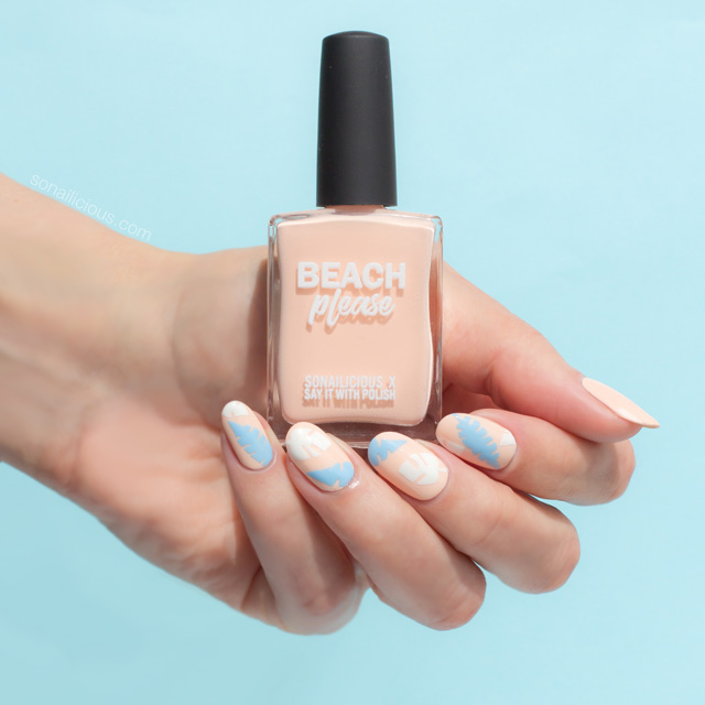 beach please, beach nails