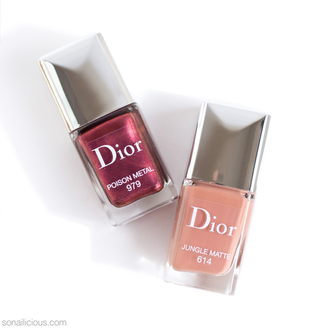 dior jungle matte, dior poison metal nail polish