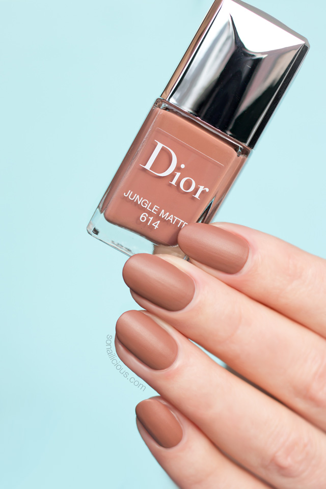 dior jungle matte nail polish swatch