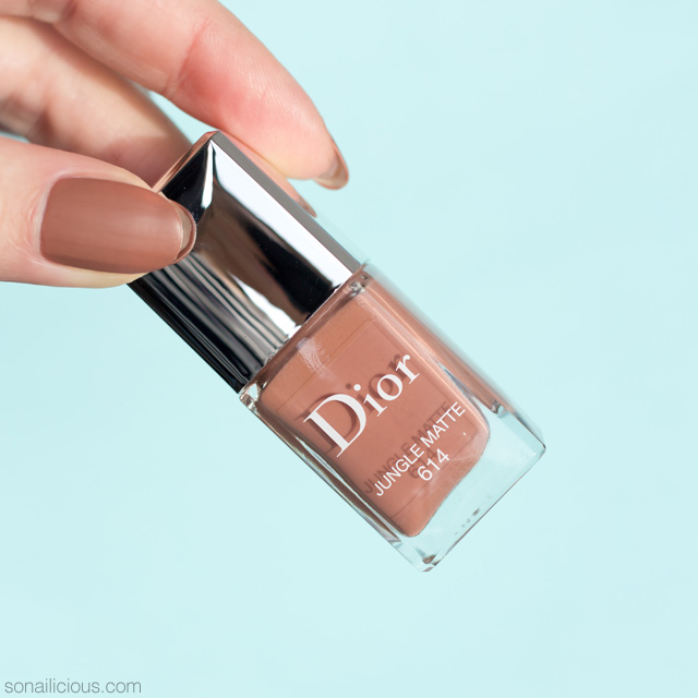 dior jungle matte nail polish