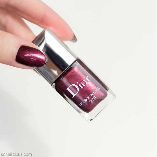 dior poison metal nail polish review
