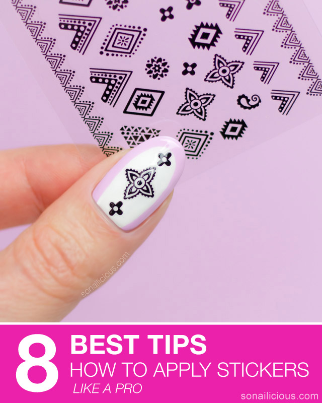how to apply nail stickers, tips for nail stickers