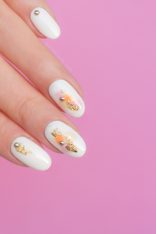 spring nails how to, watercolor nails