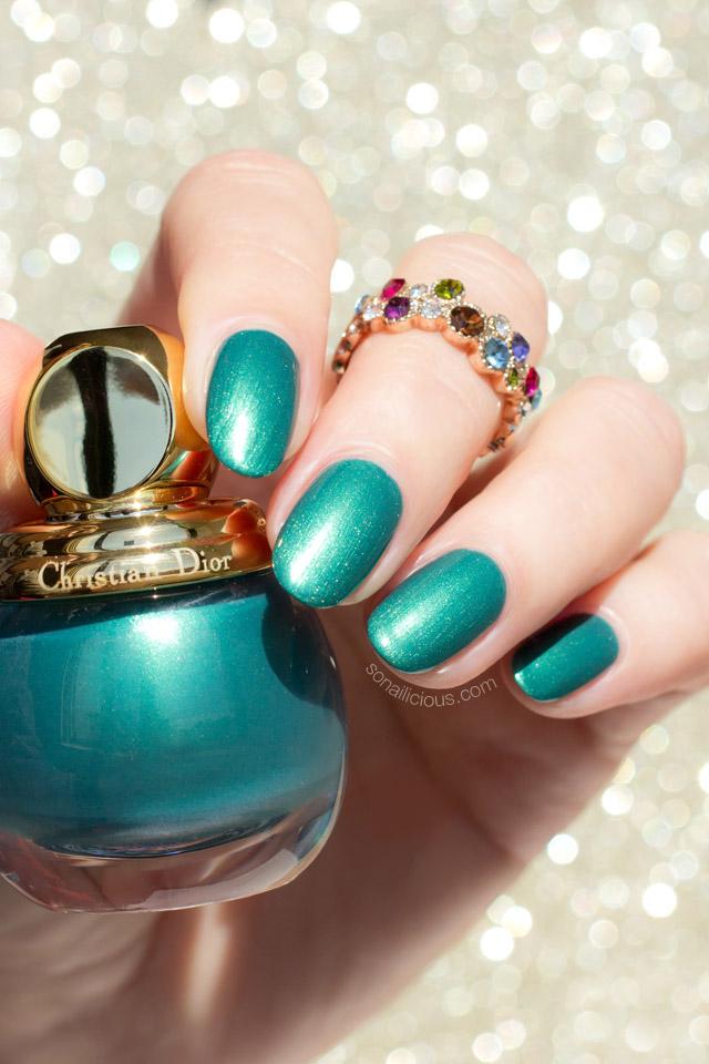dior diorific emerald, dior green nail polish