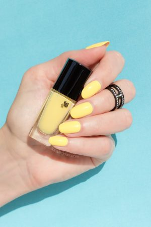 Yellow Nails Lancome 149 Jaune Grands Boulevards Swatch