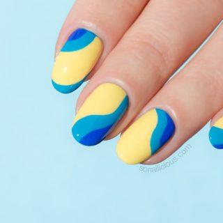 yellow nails, lancome nail polish review