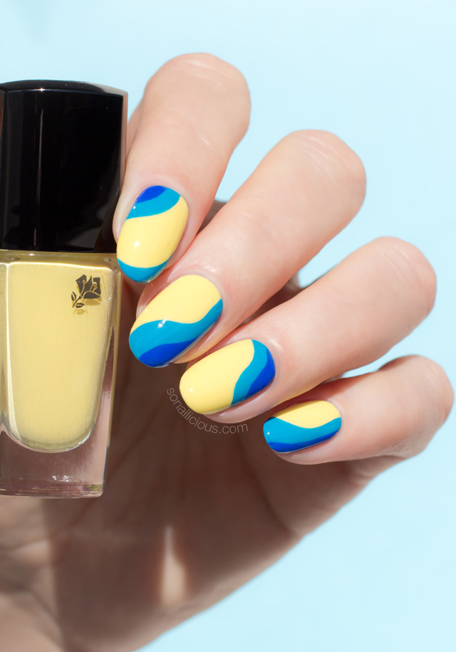 yellow nails, yellow nail polish Lancome 149 Jaune Grands Boulevards