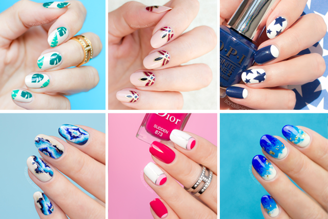 12 freehand nail art ideas you can actually do tutorials provided 12 freehand nail art ideas to try prinsesfo Images