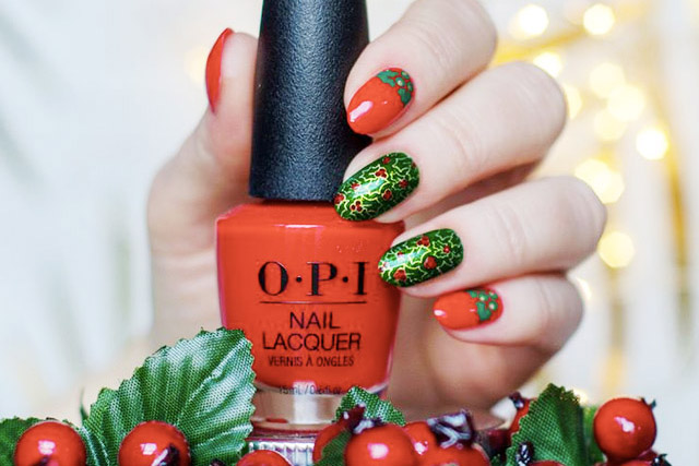 14 elegant christmas nail designs 2017