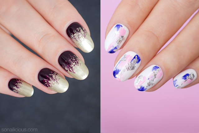3 easy christmas nail designs with step by step how to prinsesfo Choice Image