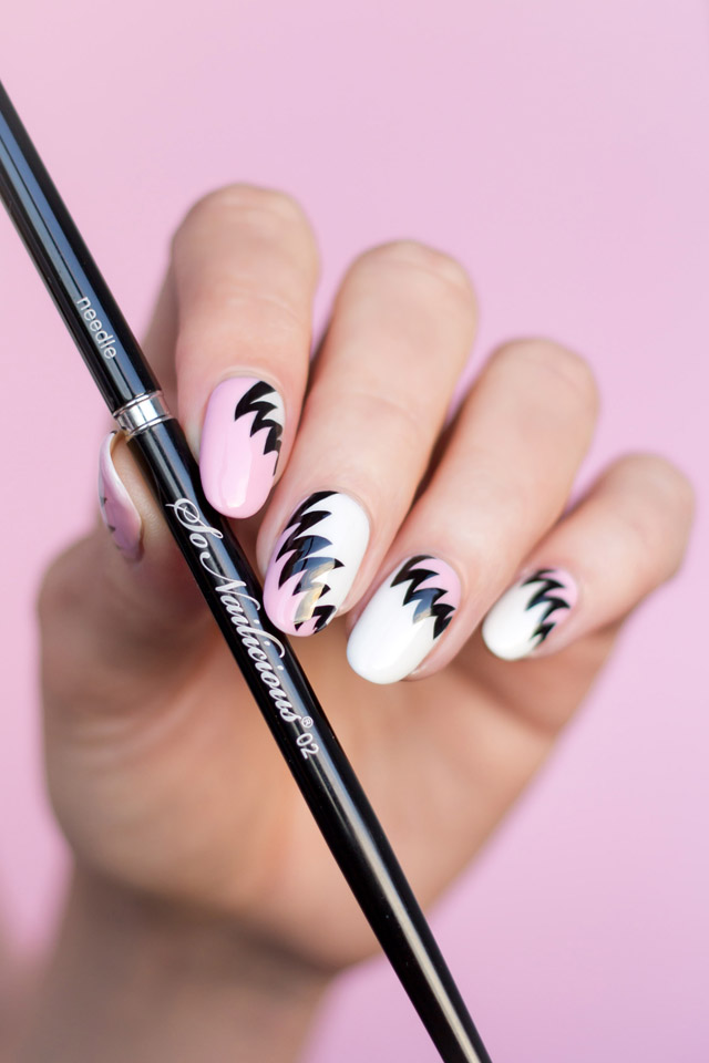 80s nail art, liner nail art brush