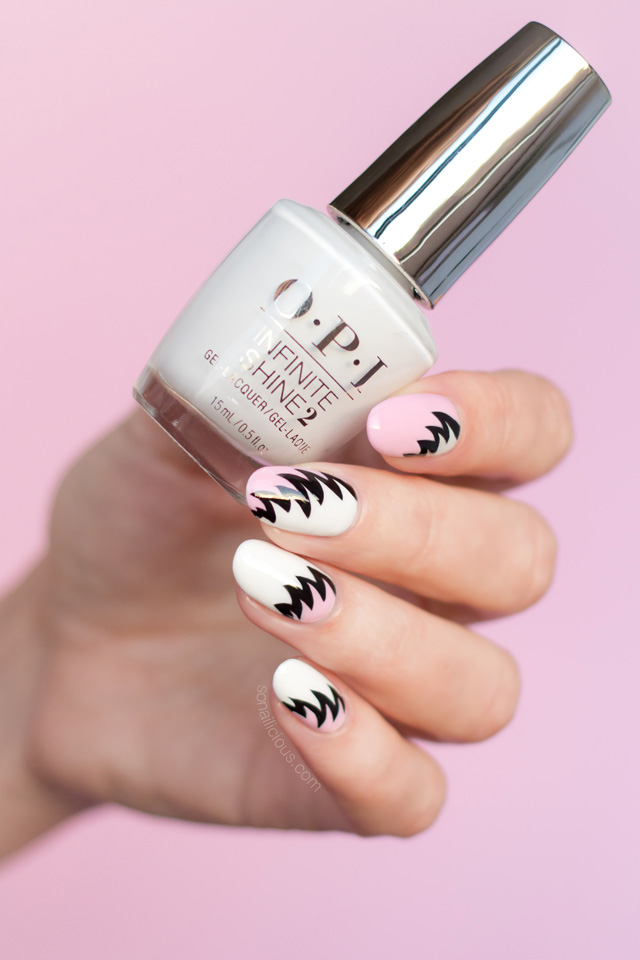 nail art trend, pink and white nails