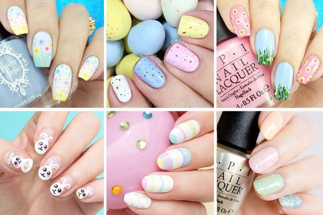 12 easy easter nail designs - 12 Easy Easter Nail Designs - SoNailicious