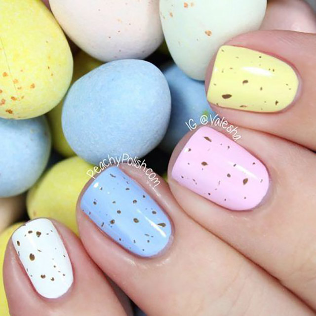 Easter Egg nails by @PeachyPolish