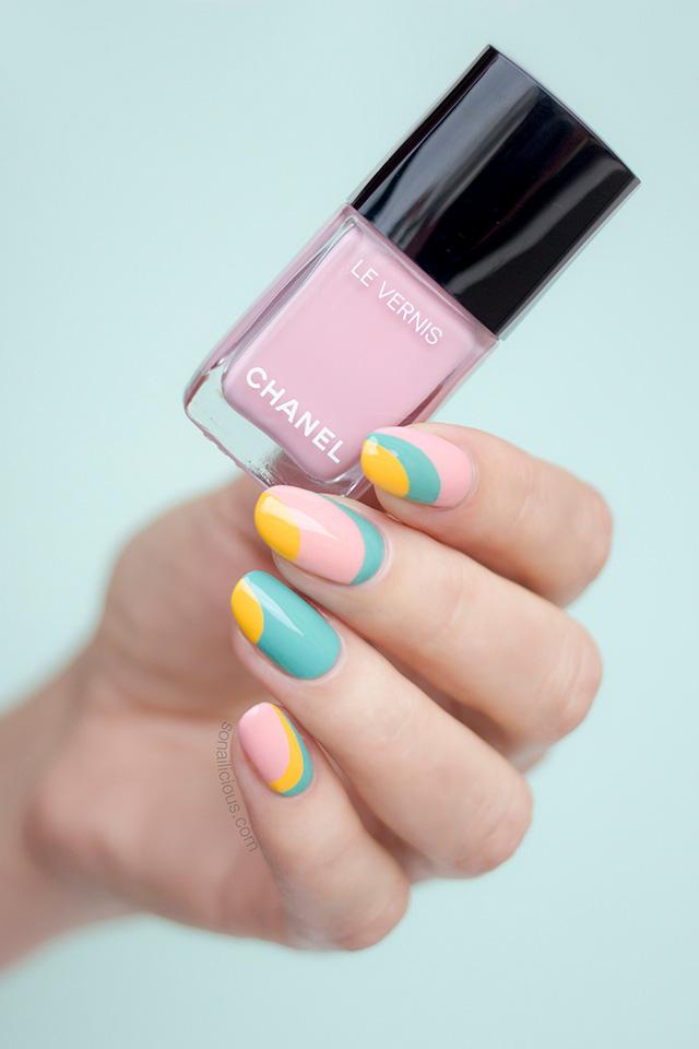 chanel 588 nuvola rosa nail polish, pink nails
