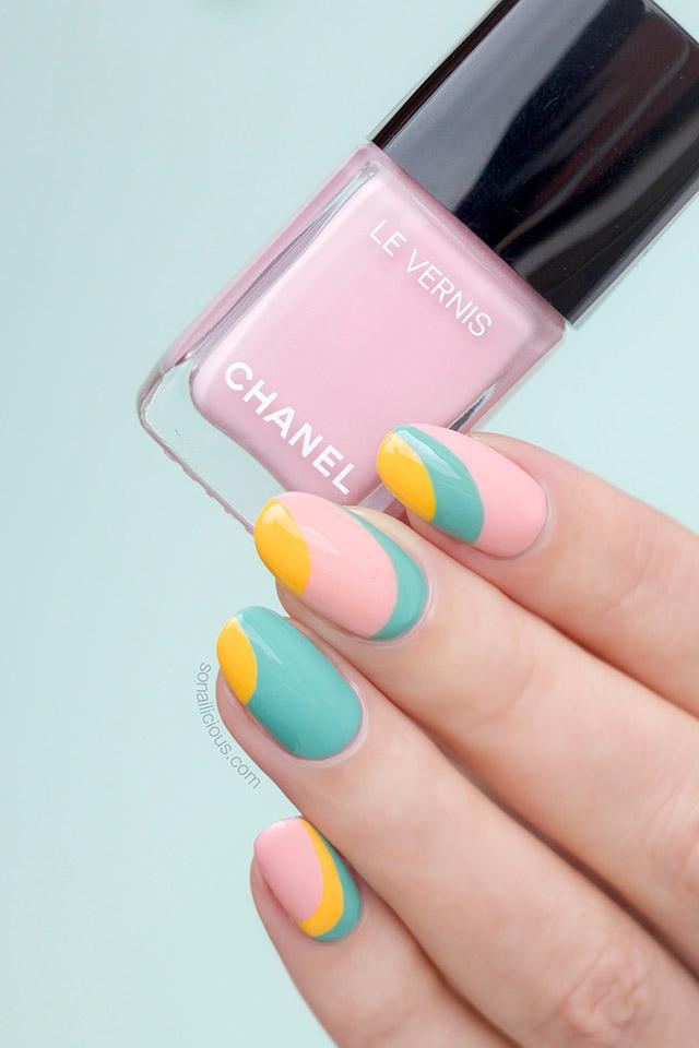 chanel nuvola rosa nail polish, pink nail design
