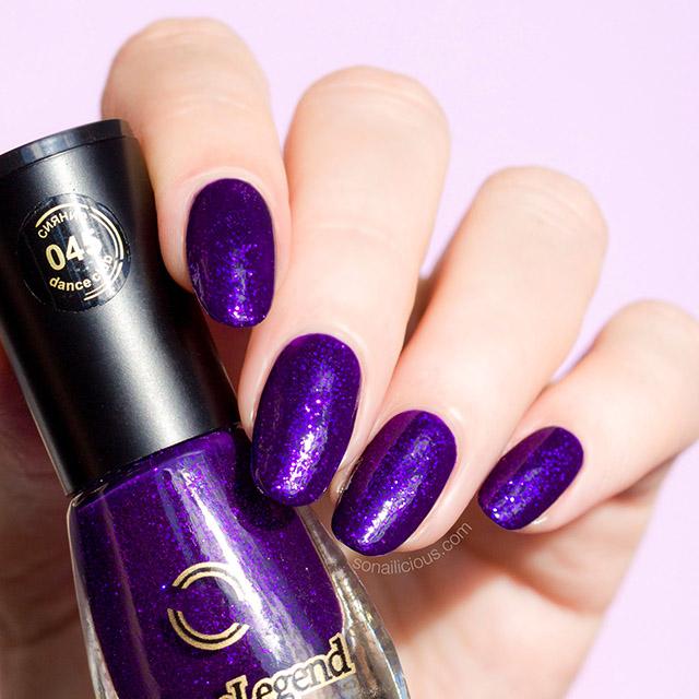 Nail Enamel Artinya: The Most Ultra Violet Nail Polish: Purple Glitter Rain