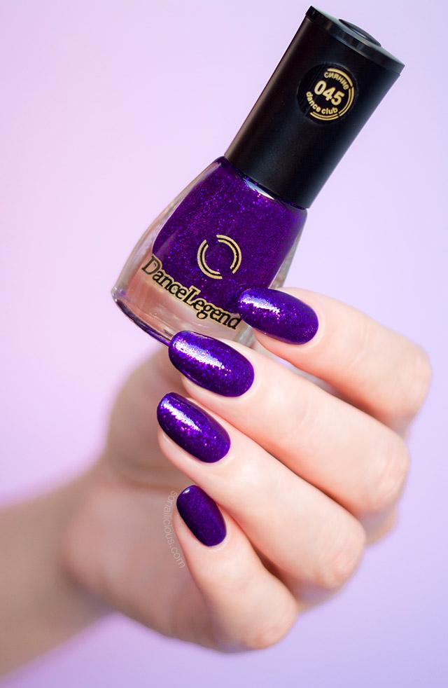 Purple Nail Polish Dance Legend 045