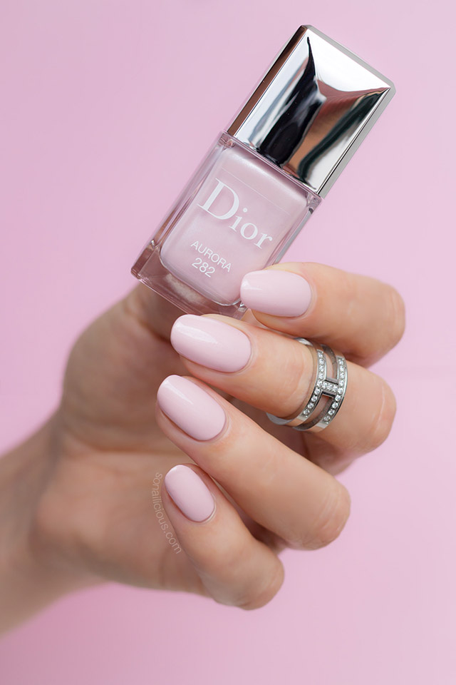 dior aurora, wedding nail polish
