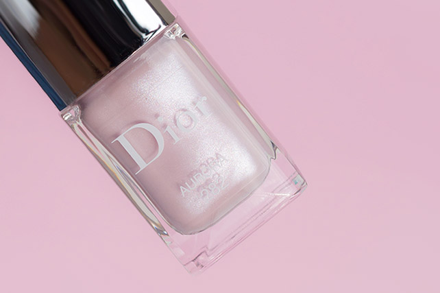 dior aurora, wedding nails