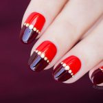 Tutorial: Red Nail Design with Magic Gold Droplets