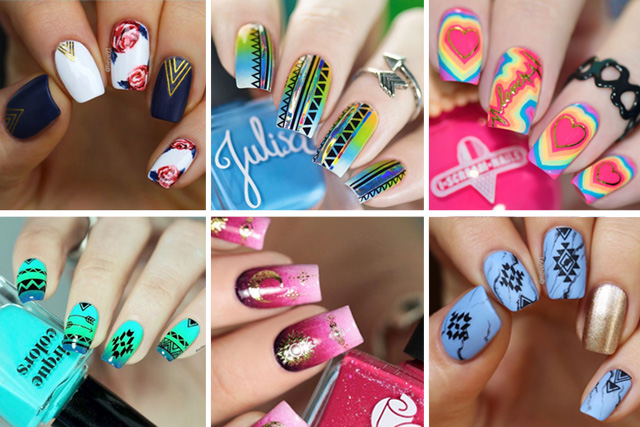 15 manicure ideas with summer nail stickers