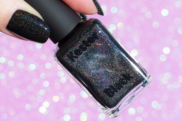 Best Black Holographic Nail Polish, Kester Black Black Diamonds