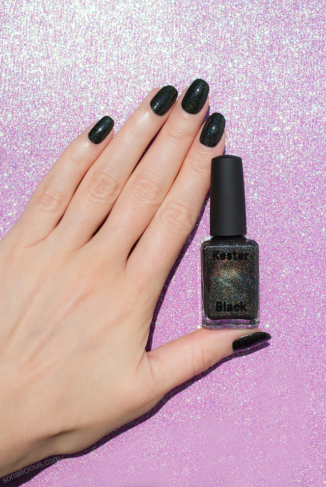 Black Sparkling Nail Polish