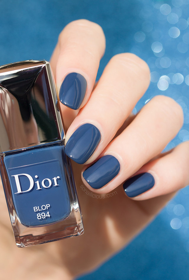 dark blue dior nail polish dior blop swatch