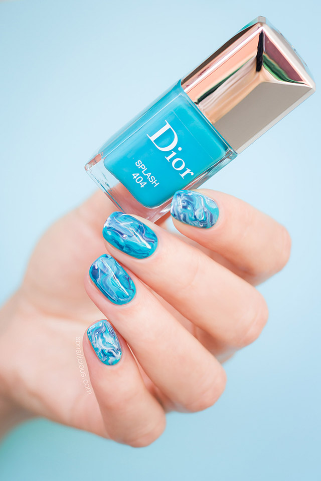 dior splash blue nail polish