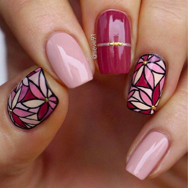 floral fall nails
