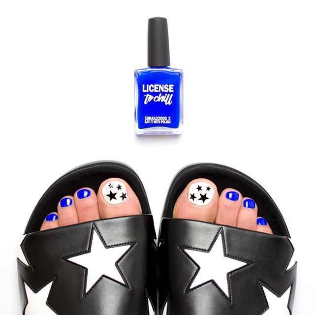 pedicure license to chill nail polish