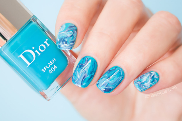 Turquoise Nail Art Feat Dior Splash Le Vernis Nails Of The Day