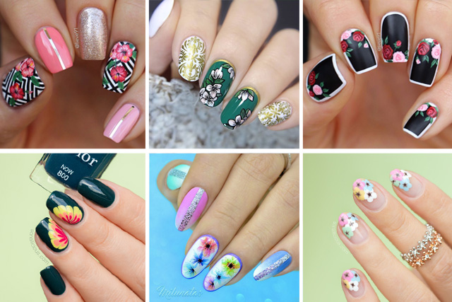 12 floral nail designs to try