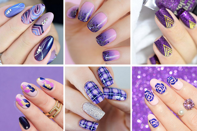 12 purple nail designs - 12 Majestic Purple Nail Designs To Try This Weekend