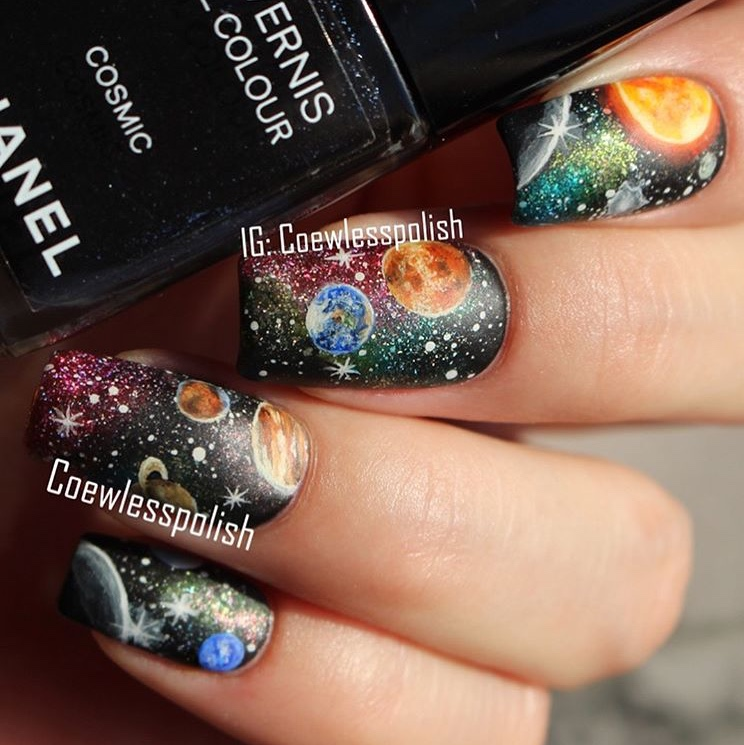 Beautiful Galaxy nails