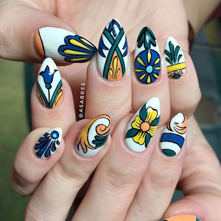 Beautiful tile nails